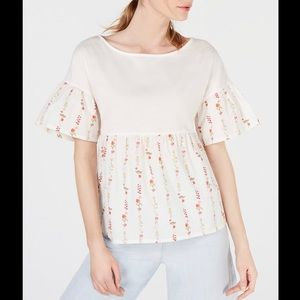 Weekend by MaxMara Hobby Cotton Solid/Printed Top
